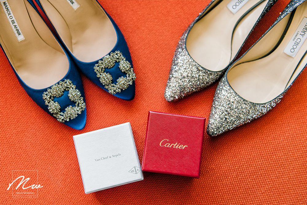 婚鞋 Wedding shoes: Manolo Blahnik, Jimmy Choo