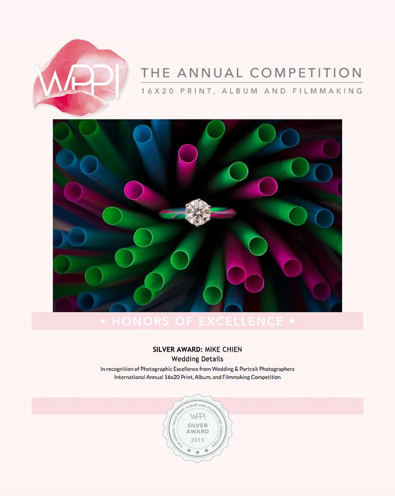 2019 美國 WPPI 16X20打印比賽獲獎